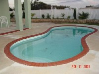 Cocoa Beach Fiberglass Pool in Maple Hill, NC