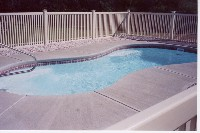 Cocoa Beach Fiberglass Pool in Burgaw, NC