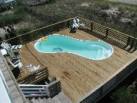 Cocoa Beach Fiberglass Pool in Wilmington, NC