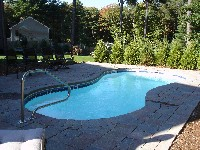 Cocoa Beach Fiberglass Pool in Carolina Beach, NC
