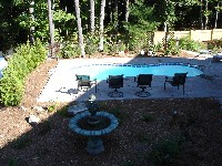 Cocoa Beach Fiberglass Pool in Currie, NC