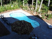 Cocoa Beach Fiberglass Pool in Delco, NC