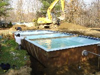 Monte Carlo Fiberglass Pool in Riegelwood, NC